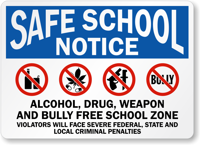 alcohol-drug-bully-free-sign